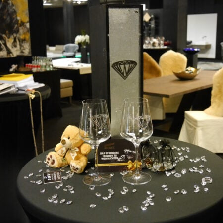 Gläser mit Swaroski Kristallen (1x Glas) Novoline Diamond